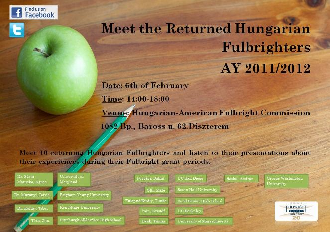 Meet the returned Hungarian Fulbrighters AY 2011/2012