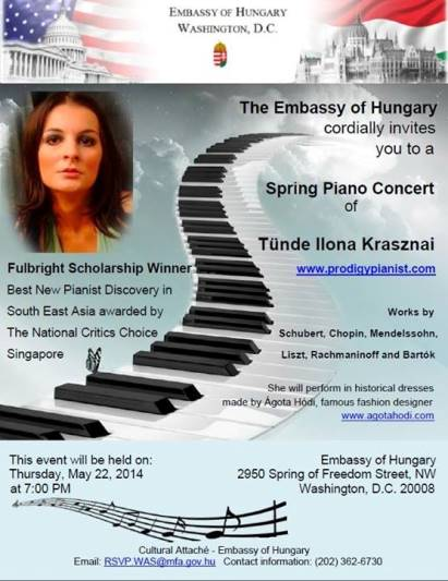 Piano Concert at the Embassy