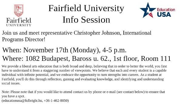 Fairfield University Info Session