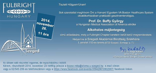 Hungarian Medical Association of America public lecture