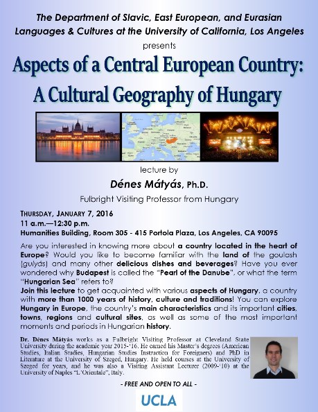 Aspects of a Central European Country: A Cultural Geography of Hungary