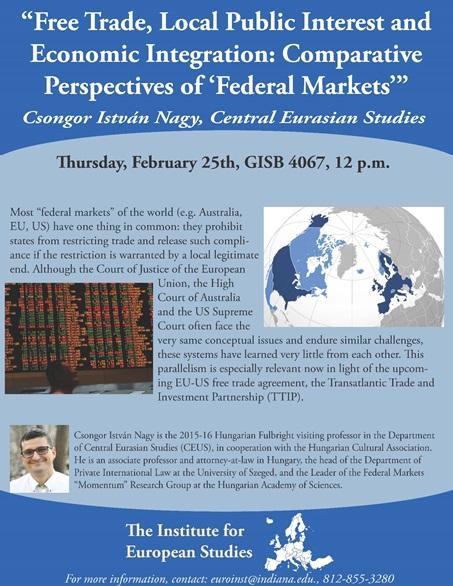 Free Trade, Local Public Interest and Economic Integration