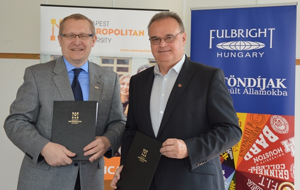 Fulbright Hungary and Budapest Metropolitan University sign agreement to bring more Engish Teaching Assistants (ETA) to Hungary