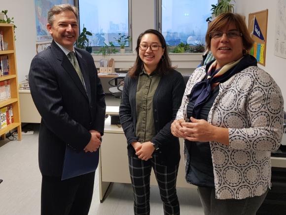 Chargé d'affaires Marc Dillard visits Fulbright Office (Nov. 12, 2019)